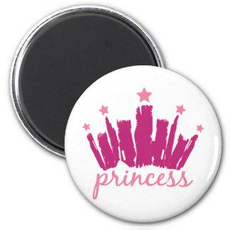 Princess Crown 2 Inch Round Magnet