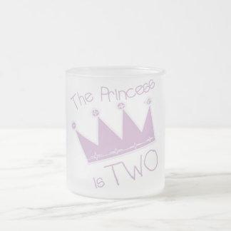 Princess Crown 2nd Birthday Tshirts and Gifts 10 Oz Frosted Glass Coffee Mug