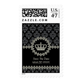 Princess Crown Any Occasion Damask Postage Stamp
