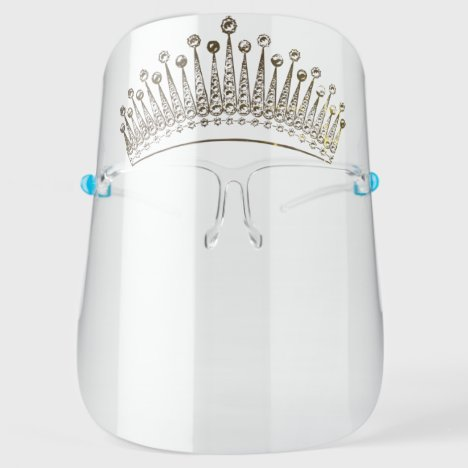 Princess Crown - Beautiful - Gold Face Shield