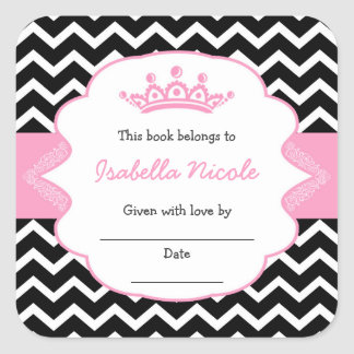 Princess Crown Bookplates / girl baby shower