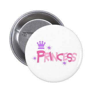 PRINCESS CROWN PINBACK BUTTONS