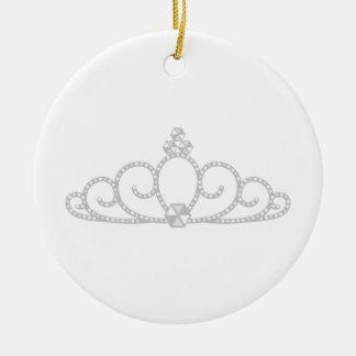 Princess Crown Ceramic Ornament