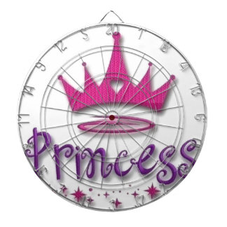 princess crown dartboard with darts