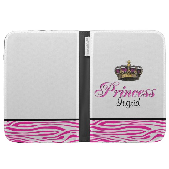 Princess crown in hot pink case for kindle