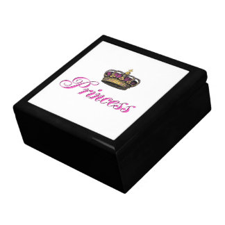 Princess crown in hot pink gift boxes