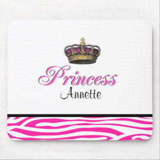 Princess crown in hot pink mouse pad