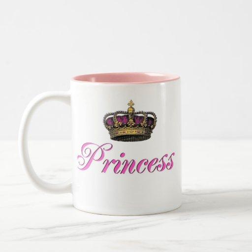 Princess crown in hot pink mugs