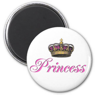 Princess crown in hot pink refrigerator magnets