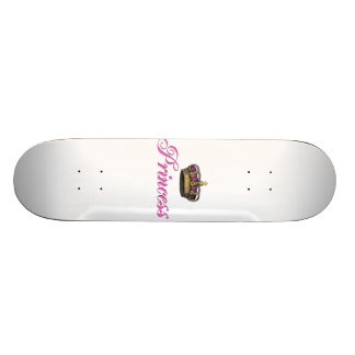 Princess crown in hot pink skateboard