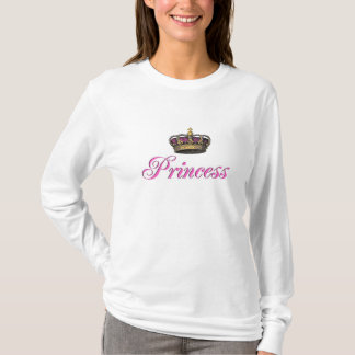 Princess crown in hot pink T-Shirt