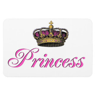 Princess crown in hot pink vinyl magnets