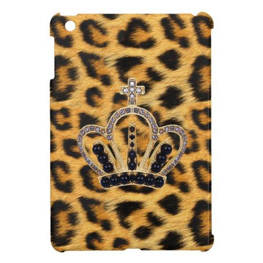 Princess Crown Leopard Fur iPad Mini Case