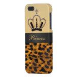 Princess Crown Leopard Fur Photo iPhone SE/5/5s Case