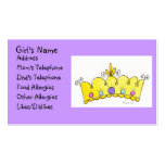 Princess Crown - Little Girls Card Double-Sided Standard Business Cards (Pack Of 100)
