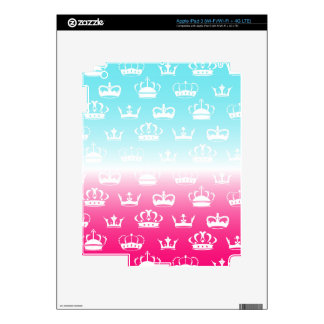 Princess crown pattern with gradient decals for iPad 3