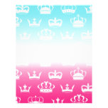 Princess crown pattern with gradient letterhead