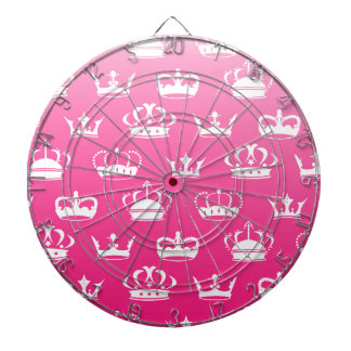 Princess crown pattern with pink gradient dartboard