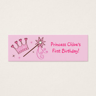 Princess Crown Personalized Favor Gift Tags