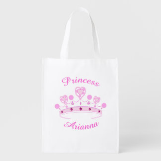 Princess Crown Personalized Grocery Bag