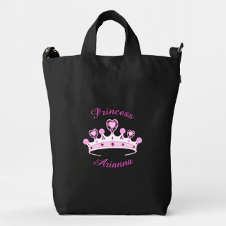 Princess Crown Personalized Duck Canvas Bag