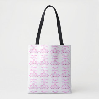 Princess Crown Personalized Tote Bag