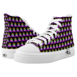 5fca14d7b8a8b Princess Crown Rainbow Emoji Poop High-Top Sneakers