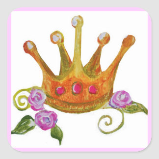 Princess Crown/Roses Sticker