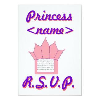 Princess Crown Second Birthday R.S.V.P Card