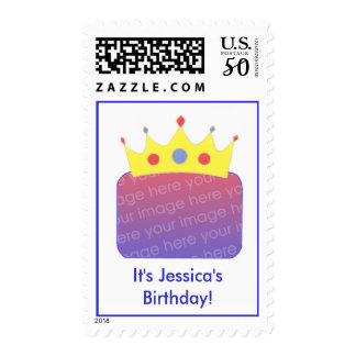Princess Crown template birthday photo stamps