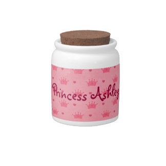 Princess Crown Tiaras Personalized Jar Candy Dishes