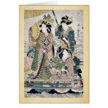 Princess cruising on royal boat by UtamaroII,d. ca Card