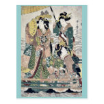Princess cruising on royal boat by UtamaroII,d. ca Post Cards
