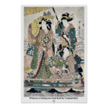 Princess cruising on royal boat by UtamaroII,d. ca Posters