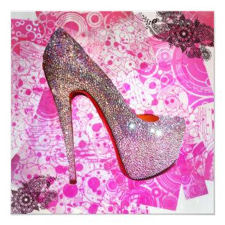 Princess Crystal Heel Greeting Card