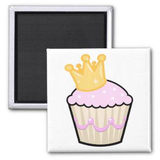 Princess Cupcake 2 Inch Square Magnet