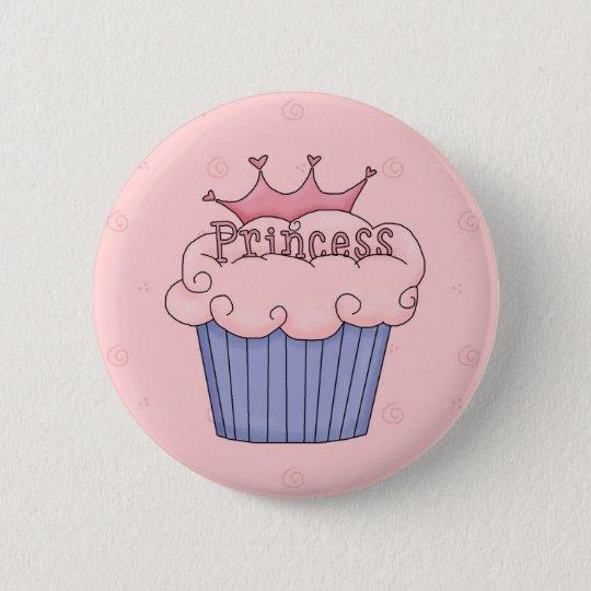 Princess cupcake button