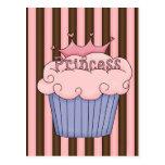 Princess cupcake post cards
