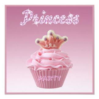 Princess Cupcake & Sparkles Birthday Party Card