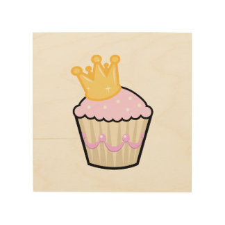 Princess Cupcake Wood Prints