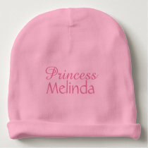 Princess custom name infant hat