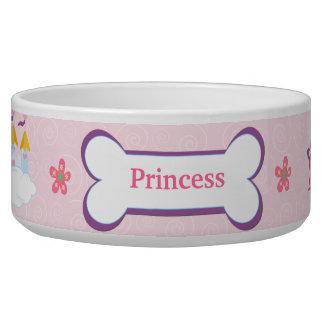 Princess Custom Pet Dog Food Bowl - Pink