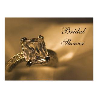 Princess Cut Diamond Engagement Ring Bridal Shower Card