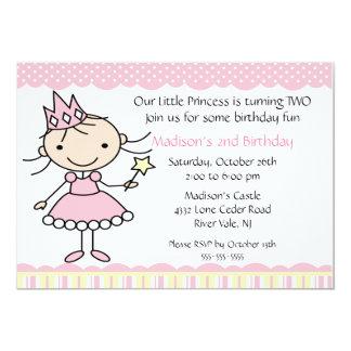 "Princess Dance Birthday Invitation 5"" X 7"" Invitation Card"