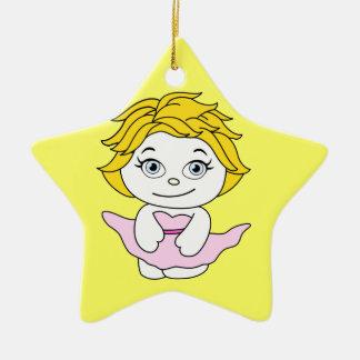 Princess Dancing Cartoon Ceramic Ornament