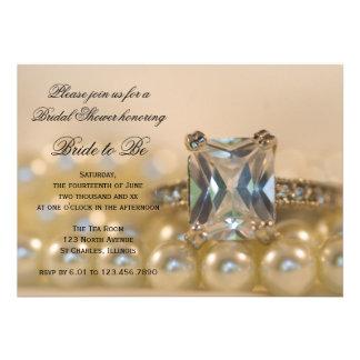 Princess Diamond and Pearls Bridal Shower Invite