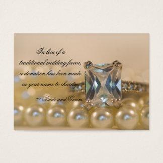 Princess Diamond and Pearls Wedding Charity Card