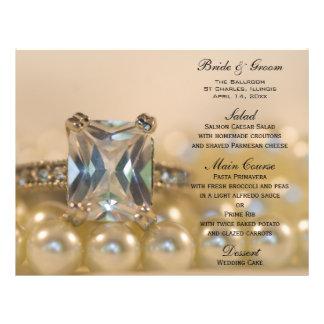 Princess Diamond and Pearls Wedding Menu Custom Flyer