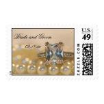 Princess Diamond and Pearls Wedding Postage Stamp