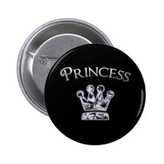 Princess Diamond Crown Button